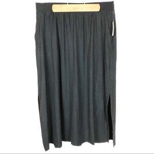 (T-15) Terra & Sky Black Maxi Skirt Size 0X 14W